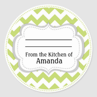 From the Kitchen of Sticker, Made For You By Label