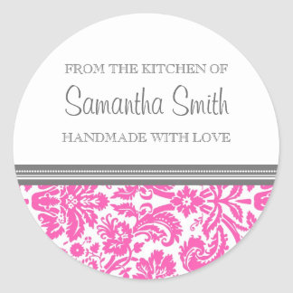 From the Kitchen of Sticker Pink Damask