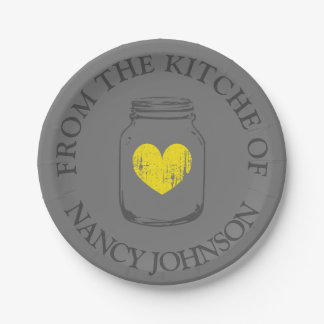From the kitchen of vintage mason jar paper plates