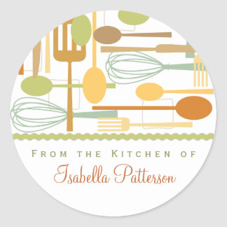 From the Kitchen Retro Cooking Utensils Sticker
