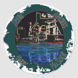 """From the """"Larry the Drummer"""" reflection collection Classic Round Sticker"""