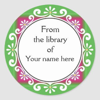 From The Library Of Bookplates - White Swirls