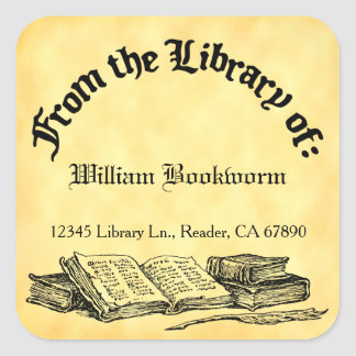 From the Library of Books Quill Custom Bookplate