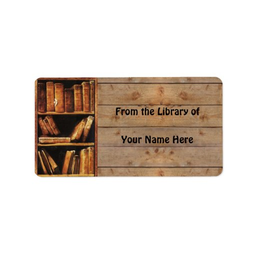 From the Library of (customizable) Custom Address Labels
