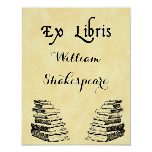 From the Library of Old Books Custom Poster
