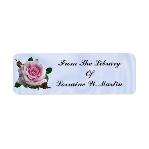 FROM THE LIBRARY OF- RETURN ADDRESS LABELS