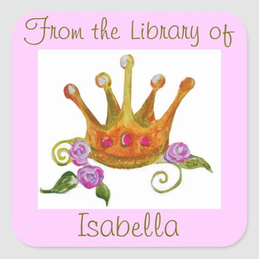 """""""From the Library of"""" Sticker (customizable)"""