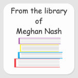 """""""From the library of..."""" Stickers"""