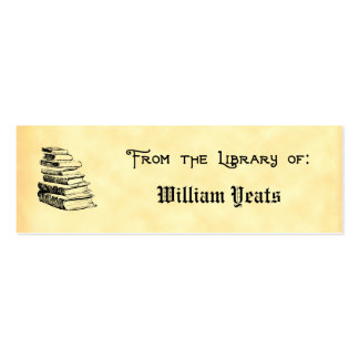 From the Library of Vintage Books Bookplate Double-Sided Mini Business Cards (Pack Of 20)