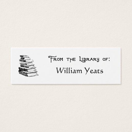 From the Library of Vintage Books Bookplate Mini Business Card