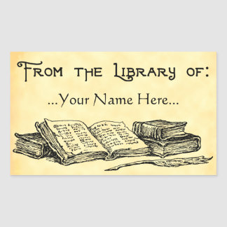 From the Library of Vintage Books Custom Bookplate