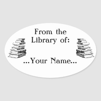 From the Library of Vintage Custom Bookplate