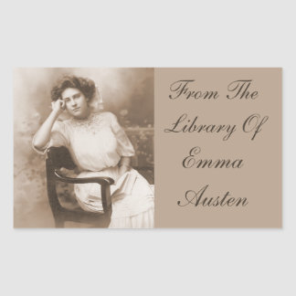 From The Library Of...Vintage Photo Book Rectangular Sticker
