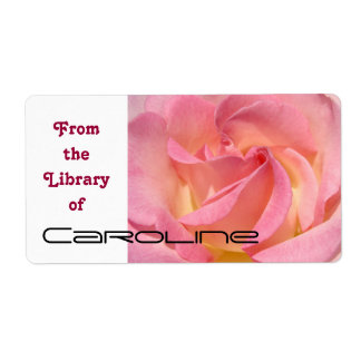 From the Library of Your Name Book Tags Rose