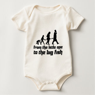 From the little ape to the big fish baby bodysuit