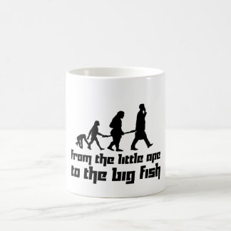 From the little ape to the big fish classic white coffee mug