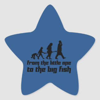 From the little ape to the big fish star sticker