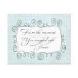From the Moment Nursery Quote Canvas Print - Boy