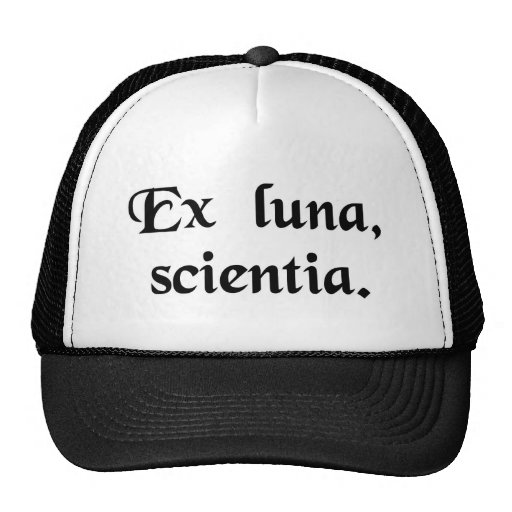 From the moon, knowledge. trucker hat
