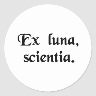 From the moon, knowledge. sticker