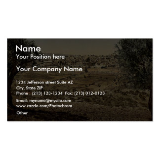 From the Mount of Olives, general view, Jerusalem, Business Cards