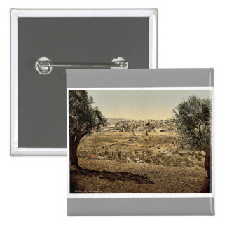 From the Mount of Olives, general view, Jerusalem, Pinback Buttons