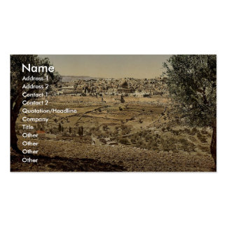 From the Mount of Olives, general view, Jerusalem, Double-Sided Standard Business Cards (Pack Of 100)