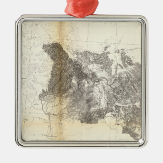 From the Mud Lakes to Pacific Ocean Metal Ornament