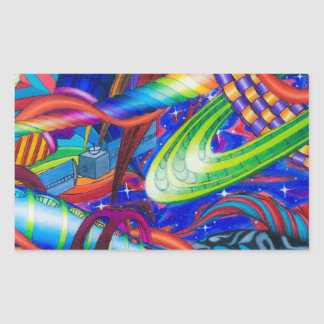 From the Ocean to the Stars Rectangular Sticker