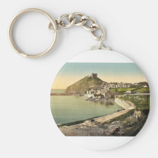From the parade, Criccieth Castle, Wales rare Phot Keychain