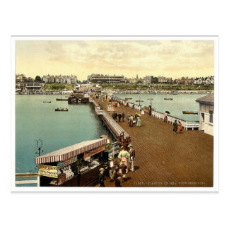 From the pier, Clacton-on-Sea, England vintage Pho Postcard