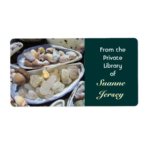 From the Private Library of Your Name Book Tags Custom Shipping Labels