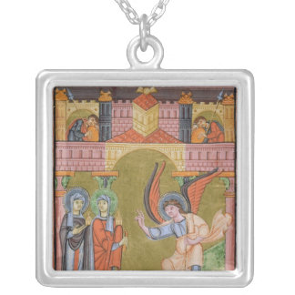 from the Reichenau School Evangeliary Silver Plated Necklace