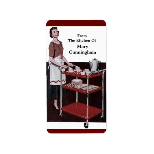 From the Retro Kitchen Of You! Custom Label