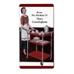 From the Retro Kitchen Of You! Personalized Shipping Labels