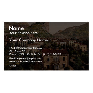 From the south, Arco, Garda, Lake of, Italy vintag Business Cards