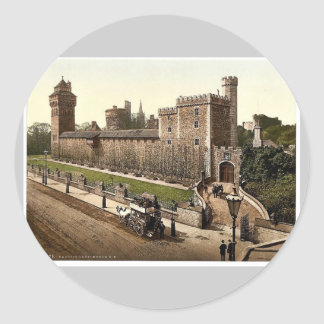 From the southeast, Cardiff Castle, Wales rare Pho Sticker