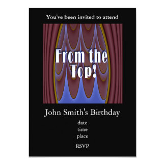 From the Top! 4.5x6.25 Paper Invitation Card