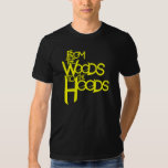 From the Woods to the Hoods tee: Black n' Yellow Tees