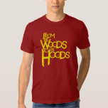 From the Woods to the Hoods tee: Cranberry Shirts