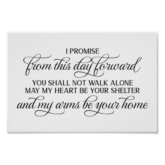 From This Day Forward Wedding Sign