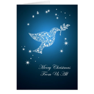 From us all, Dove of peace Christmas card