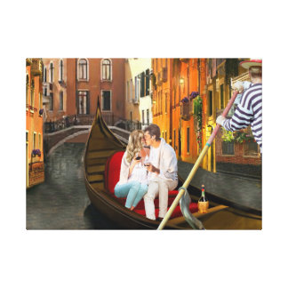 From Venice with Love Canvas Print
