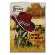 from Wyoming Cowboy Christmas Western Boot Card