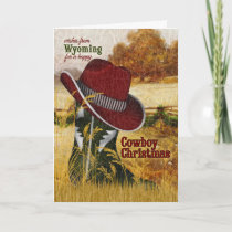 from Wyoming Cowboy Christmas Western Boot Holiday Card