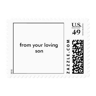 from your loving son postage