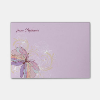 FROM YOUR NAME | Abstract Butterfly Post-it Notes