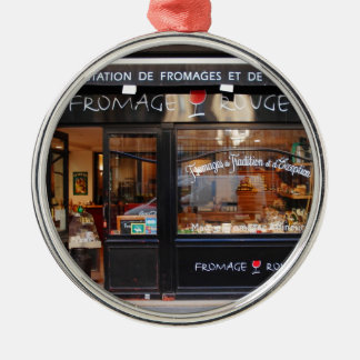 Fromage Rouge ~ Cheese and Wine Paris Metal Ornament