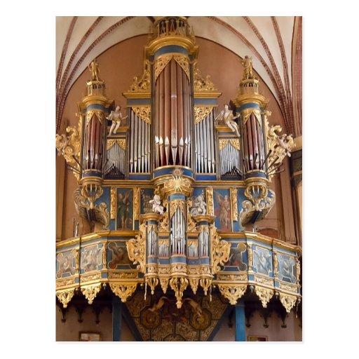 Frombork Cathedral organ postcard