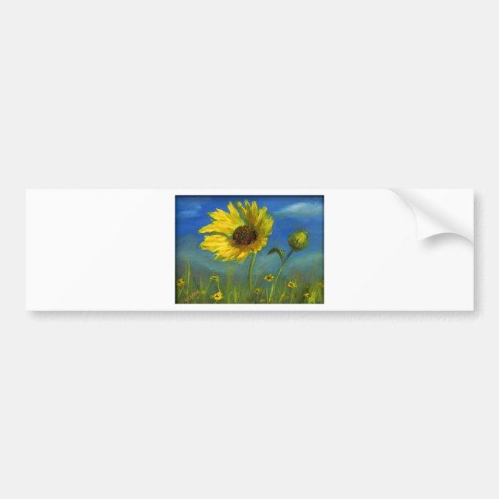 froml hand painted wild oklahoma flower bumper sticker